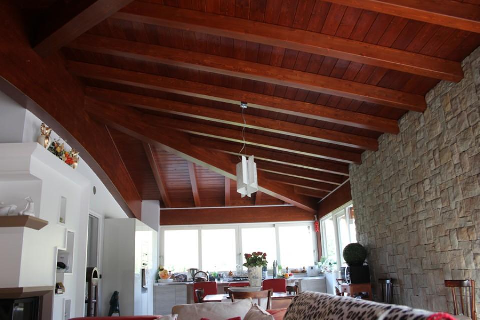 Copertura casa in legno riall