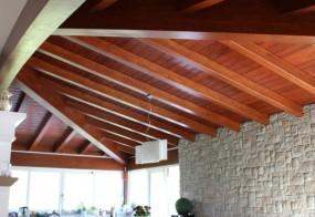 Copertura in legno casa riall